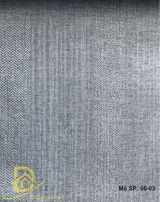 Hình ảnh Rèm vải gấm 1 màu kẻ sọc